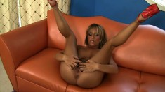 Jessica Moore, a busty blonde with sexy long legs and a spicy ass, loves black cock