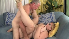 Huge breasted blonde wants nothing but a hard pole drilling her pussy