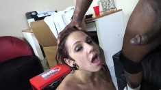 Voluptuous brunette LaVey brings her interracial fantasy to fruition