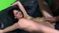 Tattooed Sky Light toys herself and gives him great head and a fuck