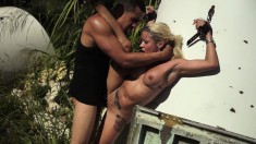 Busty blonde with a heavenly ass Marsha May plays out her wild fantasy