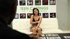 Sensual Brunette Teen Desirae Rose Deepthroats And Fucks A Thick Pole