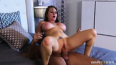 He'll probably get her ass bruised but she still won't get off his enormous cock