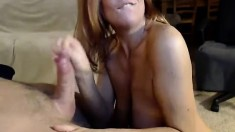 Amateur Handjob Milf Wanks For Cumload