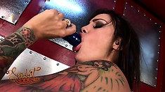 Hardcore duo of slutty lesbians enjoy eating out each other's pussies