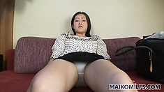 Asian newbie gets groped and fondled on the couch by his horniness