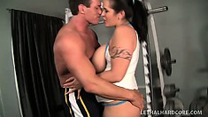 Hot chunky brunette Carmella Bing gets her big ass, tits, and cunt licked