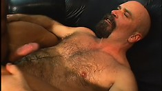 Hunky boss get his tight anal hole pounded hard and deep in his office