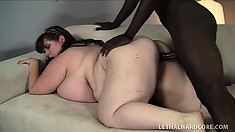 Hippo honey Lexxxi Luxe has massive tits and a big appetite for BBC