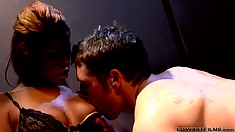 Bridget B and Chris Johnson are some active lovers blowing and licking