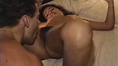 Striking Latina with a fabulous ass gets her hairy snatch pounded deep