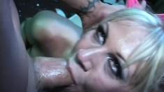 Slutty blonde girl needs a good hard fucking every single day