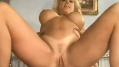 Huge breasted blonde cougar relishes every thrust of dick in her butt
