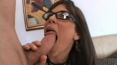 Insatiable brunette Bobbi sticks a hard dick in her ass and fucks it with fervor