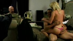 Horny blonde MILF gets what she needs from a pair of hard dicks