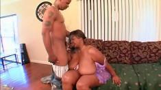 Chunky ebony housewife needs a black man satisfying her sexual needs