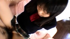 Naughty Asian schoolgirl gets pounded hard and screams with pleasure