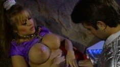 Big tit Dyanna Lauren and Brad Armstrong in hot oral licking fun