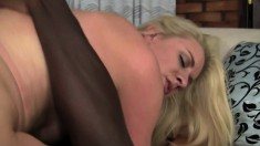 Blonde brings home a black dick to see what all the fuss is about