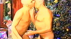 Hot young guy has a horny older man fucking his tight butt from behind