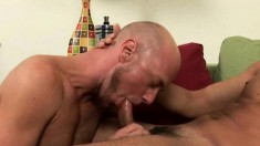 Sizzling hot painter gets his wanking session interrupted by his cocksucking buddy