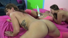 Horny babes Britney, Allison and Savannah work their magic on a cock