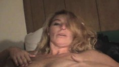 Stacked blonde slut Linda sucks a dick and takes a deep fucking in POV