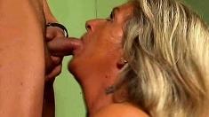 Homemade mature amateur wife blowjob