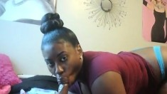 Huge ebony boobs on webcam