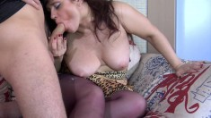 Candy Manson busty milf get a hard boobs rubbing