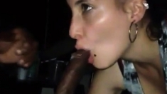 Lovely Teen Gives Her Black Friend A Good Blowjob