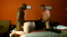 Doggystyle Threesome And Hot Blowjob