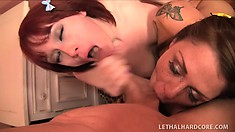 Barely Legal Cuties Open Wide To Catch Hot Cum On Their Tongues