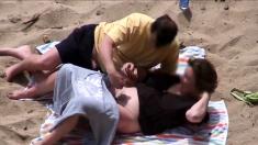 Greek beach voyeur