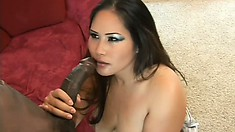 Jessica Bangkok, a stacked Oriental babe with a fabulous booty, loves black cock