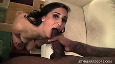 Valerie Kay goes for a black cock to munch and gets slammed by it