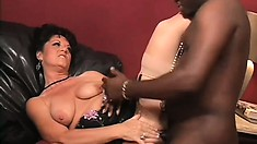 Brunette MILF Debella is a big black cock whore getting her fill for the day