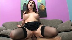 Formful milf would do anything to get her pussy banged twice