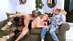 Angry hubby can't stand when other males fuck his beloved wife