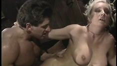 Big breasted blonde whore Calli Cox loves to get pounded from behind