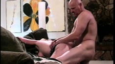 Natural born slut uses her dirty talents on a pair of firm cocks