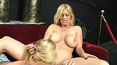 Blonde hotties Brooke and Bianka savor the taste of each other's twats
