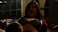 They get revved up and he goes down on her snatch before pumping it