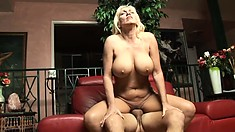 Busty blonde mom Kayla Page can't get enough of a big dick in her twat