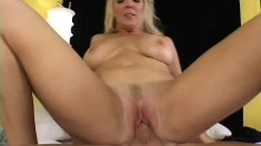 Busty blonde Kara Nox indulges in some deep penetration with young guy