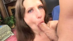 Dirty MILF Lena Ramone has a talent for pleasing huge poles of meat