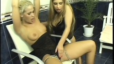 Beautiful lesbians use toys, tongues and fingers to please each other