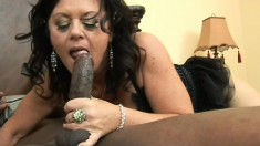 Nasty mature woman with big tits finds it hard to resist a black cock