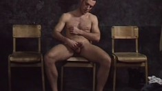 Horny gay dudes share their fantasies and jerk some big meat