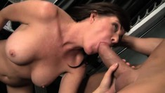 Bella Roxx is finished with her work out and decides to eat his ass